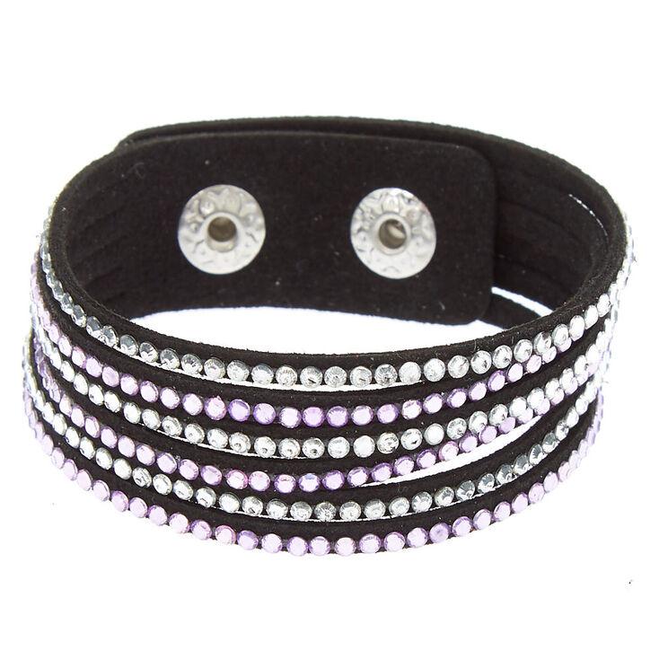 Studded Layered Wrap Bracelet - Lilac,