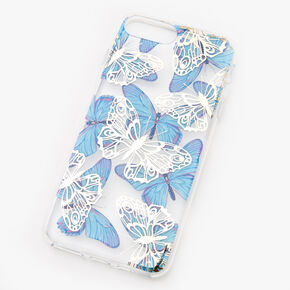 Blue & White Butterflies Phone Case - Fits iPhone 6/7/8 Plus,