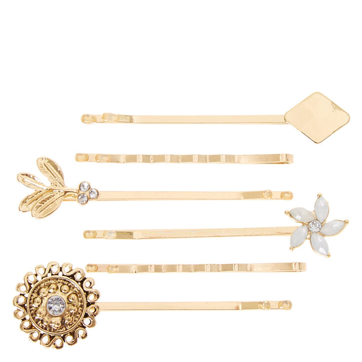 6 Pack Multi Gold Bobby Pins,