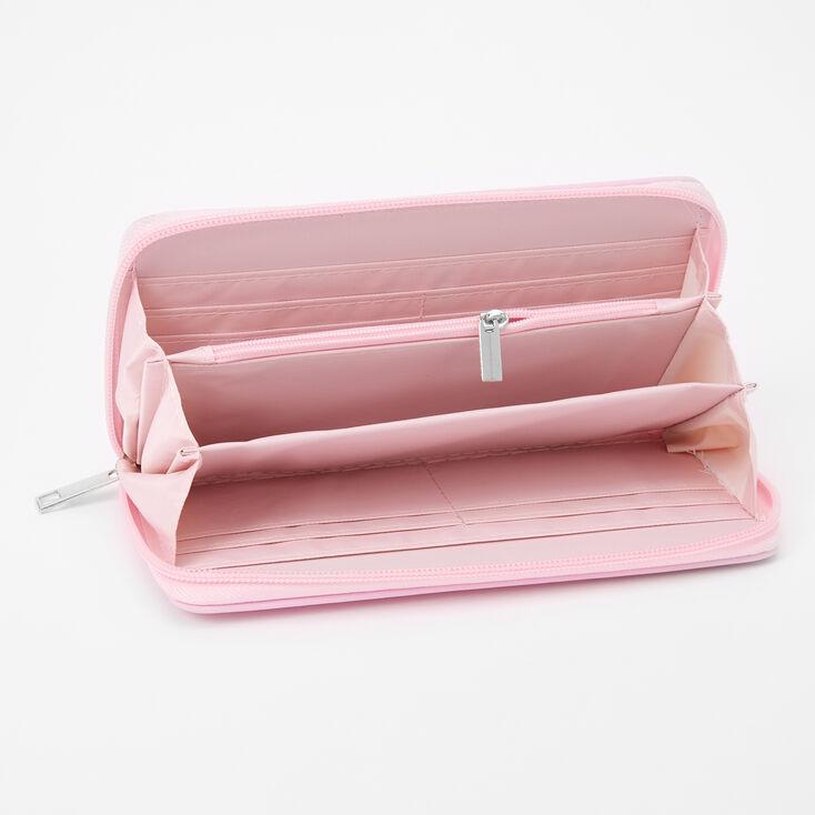 Pink Varsity Initial Wristlet - N,