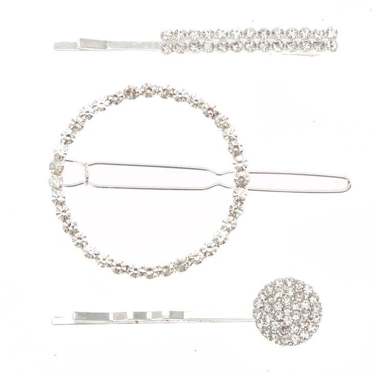 Geometric Faux Crystal Hair Clip & Bobby Pins,