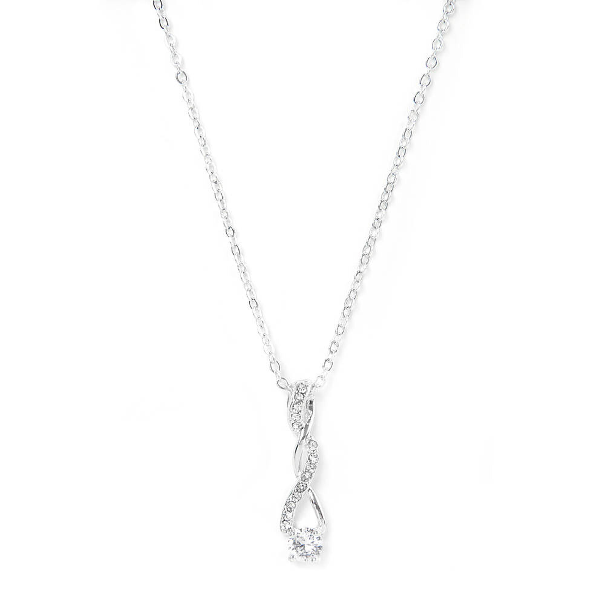 cubic sterling angel silver single zirconia pave wing cz necklace product