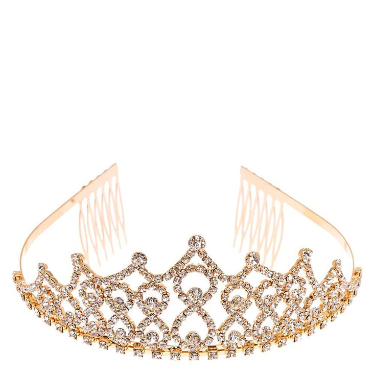 1920s Flapper Headband, Gatsby Headpiece, Wigs Icing Gold-Tone Caroline Tiara $24.99 AT vintagedancer.com
