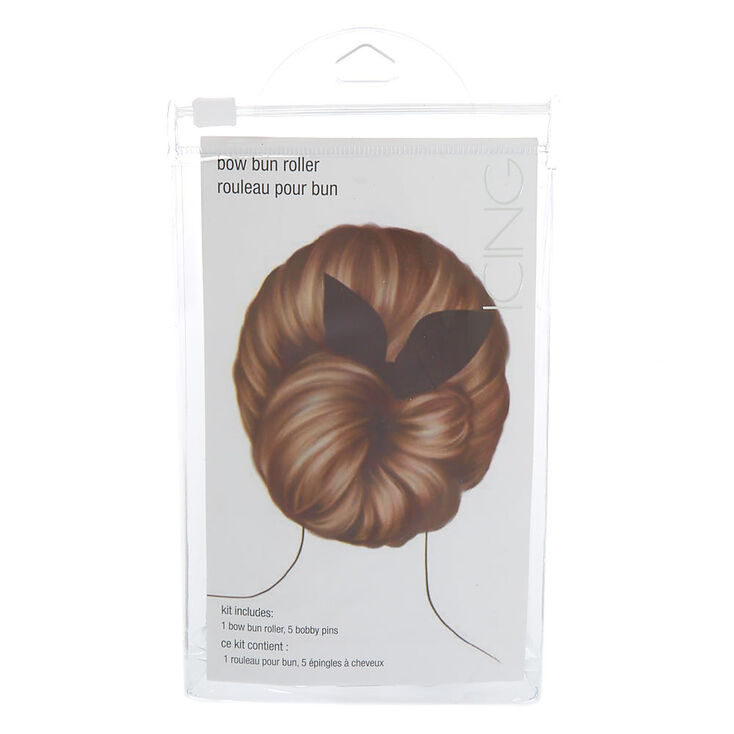 Bow Bun Roller Hair Tool Kit - Black,