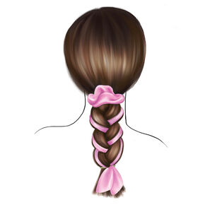Scarf Braid Hair Tools Kit - Pink,
