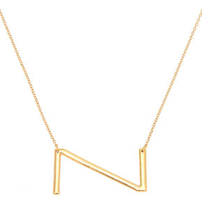 Oversized Initial Pendant Necklace - Z,