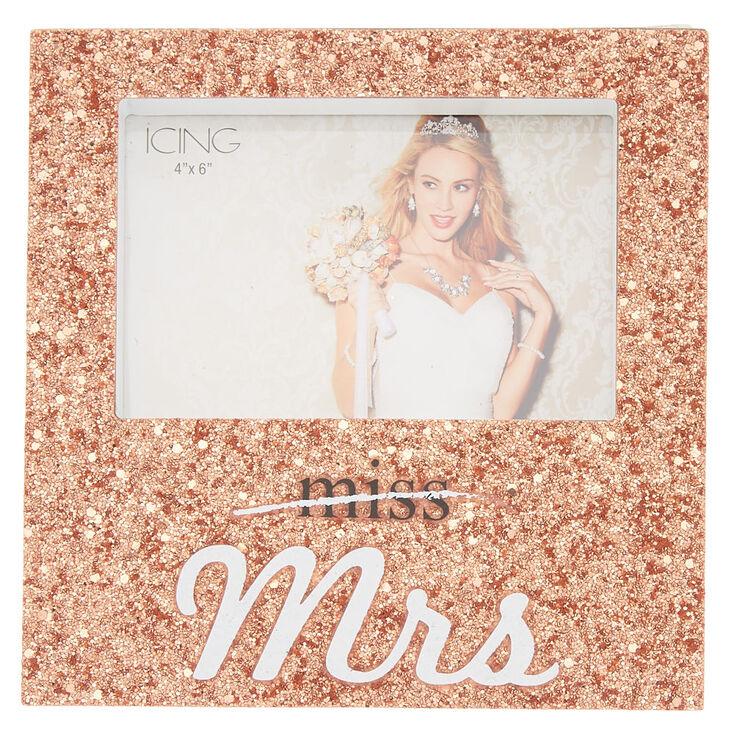 Miss To Mrs. Glitter Photo Frame - Rose Gold,