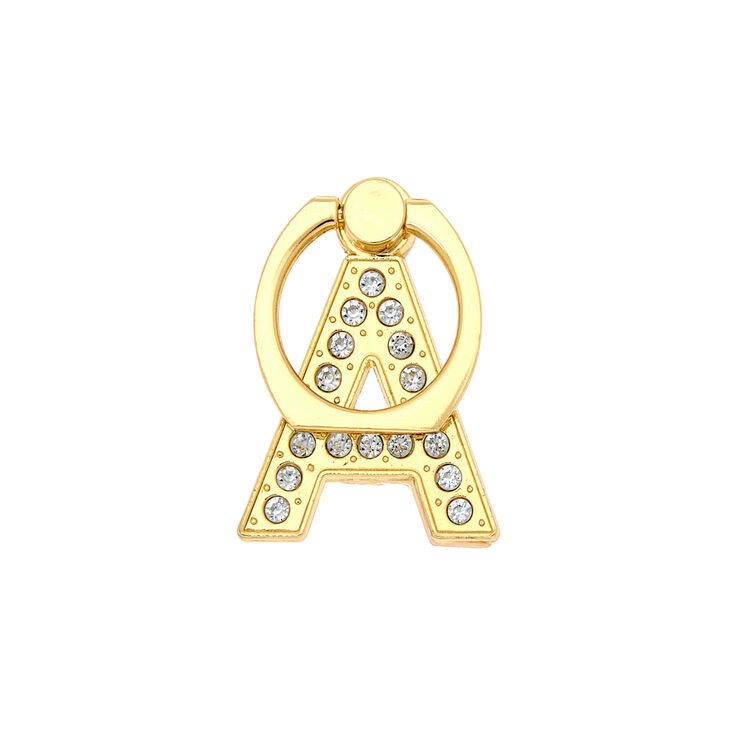 Gold Initial Ring Stand - A,