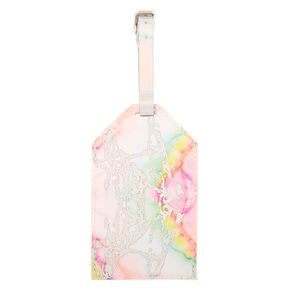 Rainbow Marble Luggage Tag,