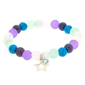 Marble Beaded Star Stretch Bracelet,