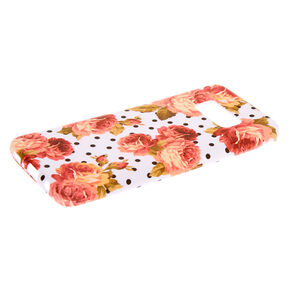 Floral Polka Dot Phone Case - Fits Samsung Galaxy S8,