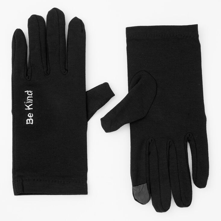 Be Kind Touch Screen Gloves - Black,