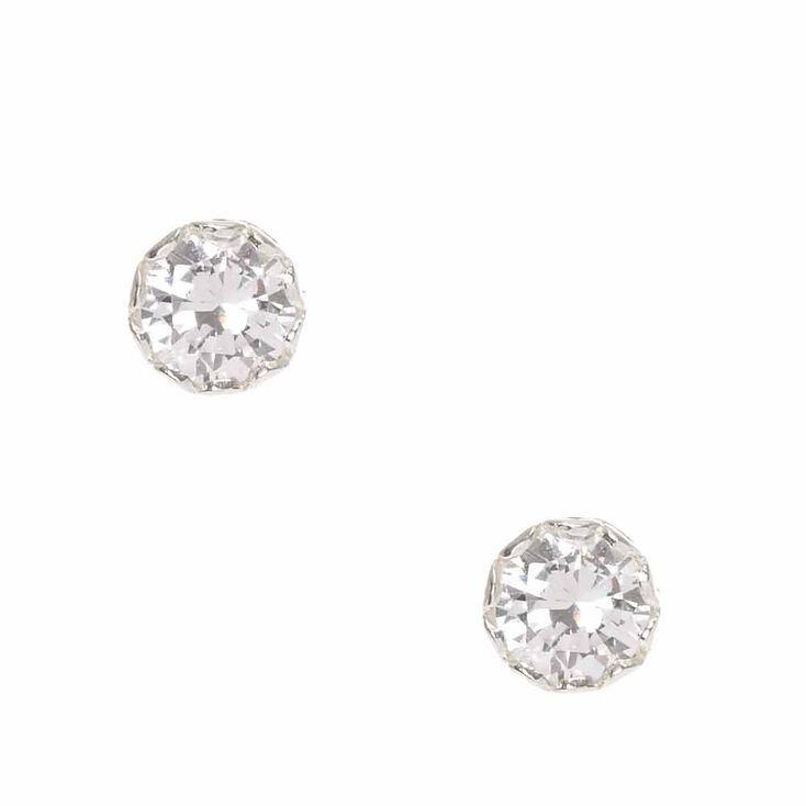 925mm Sterling Silver 7m Stud Earrings,