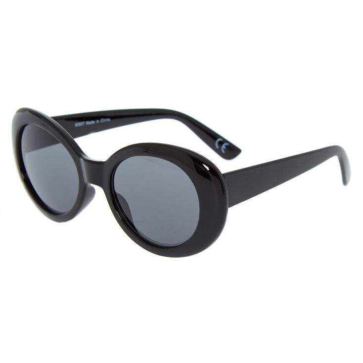 Round Mod Sunglasses - Black,