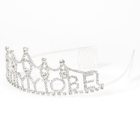 Silver Rhinestone Mommy To Be Tiara,