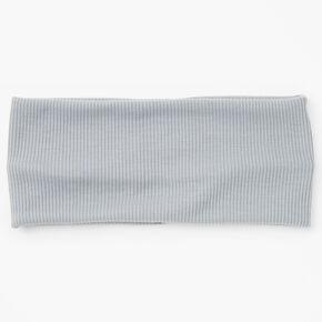 Flat Ribbed Headwrap - Gray,