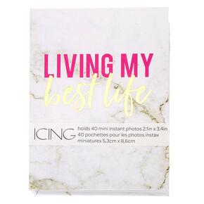 Living My Best Life Marble Instax Photo Album,