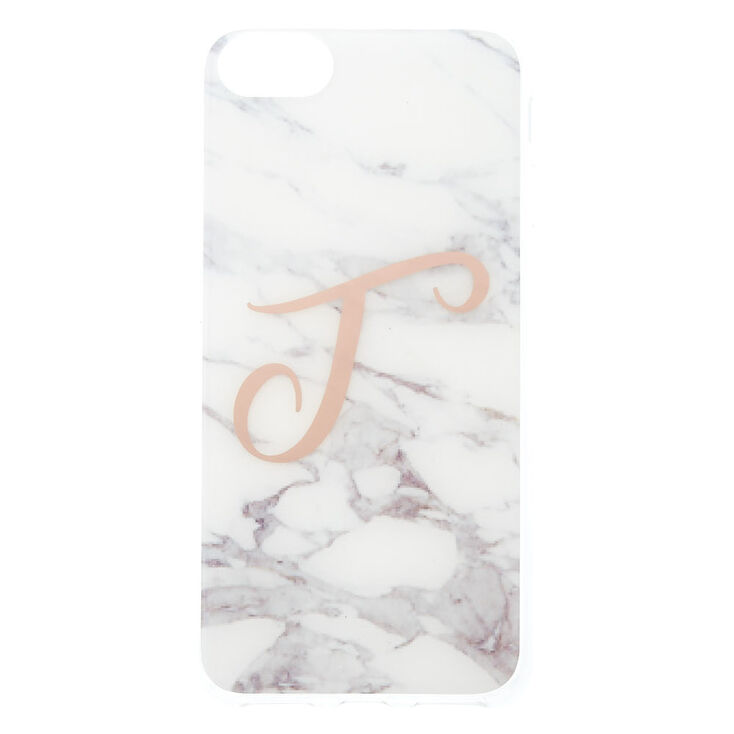 """Marbled """"T"""" Initial Phone Case,"""