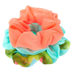 Hot Tropical Hair Scrunchies - 3 Pack,