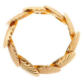 Gold Patina Shell Stretch Bracelet,