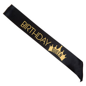 Birthday Queen Sash - Black,