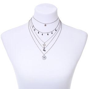 Hematite Filigree Multi Strand Necklace,
