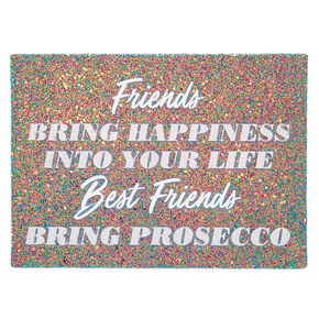 Glitter Best Friends Prosecco Wall Canvas,