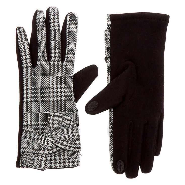 Vintage Style Gloves- Long, Wrist, Evening, Day, Leather, Lace Icing Houndstooth Touchscreen Gloves $14.99 AT vintagedancer.com