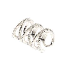 Silver Tone Triple Infinity Symbol Ear Cuff,