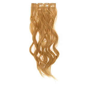 Wavy Faux Hair Clip On Extensions - Blonde, 4 Pack,