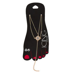 Gold Filigree Foot Chain Anklet,
