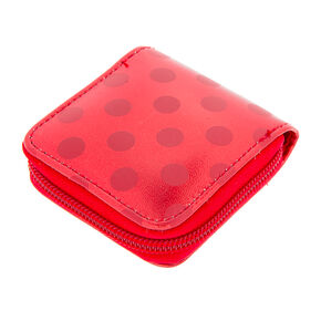 Red Polka Dot Contact Lens Case,