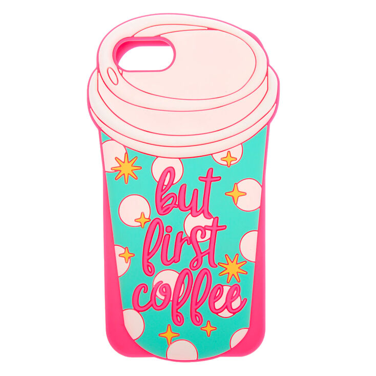 But First Coffee Silicone Phone Case - Fits iPhone 6/7/8/SE,
