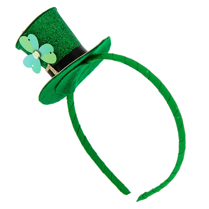 Shamrock Irish Hat Headband - Green,