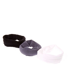 Black, Gray, & White Nylon Hair Ties,