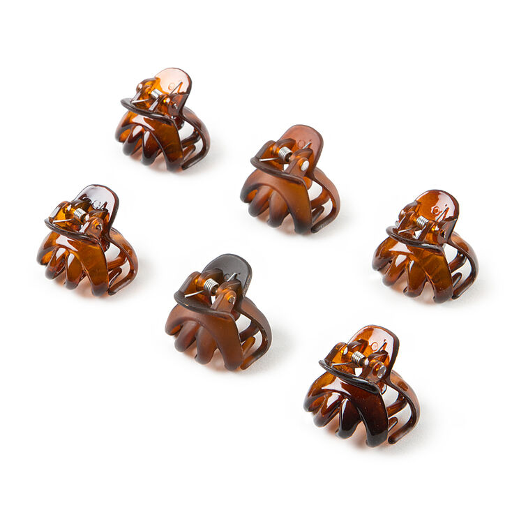 Mini Shiny & Matte Oval Claw Clips  - 6 Pack,