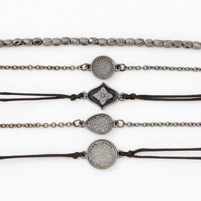 Hematite Chain Bracelets - 5 Pack,