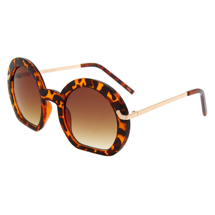 Round Tortoiseshell Sunglasses,