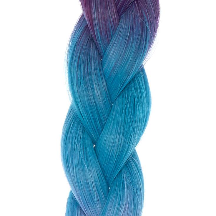 Chunky Mermaid Blue Faux Hair Braid Extension,
