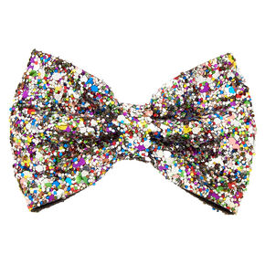 Rainbow Cake Glitter Mini Hair Bow Clip,