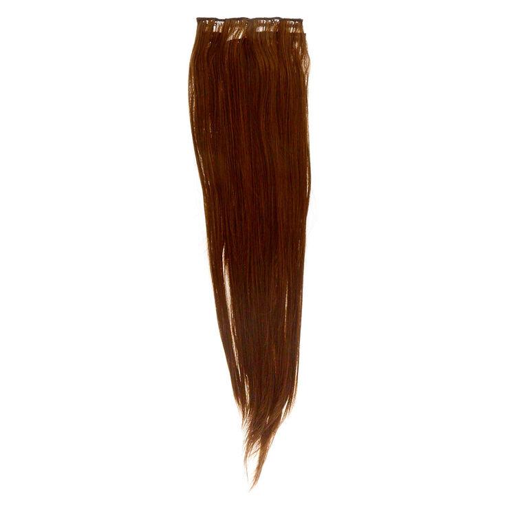 4 Piece Brunette Faux Hair Extensions,