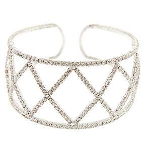 Geometric Crystal Cuff Bracelet,