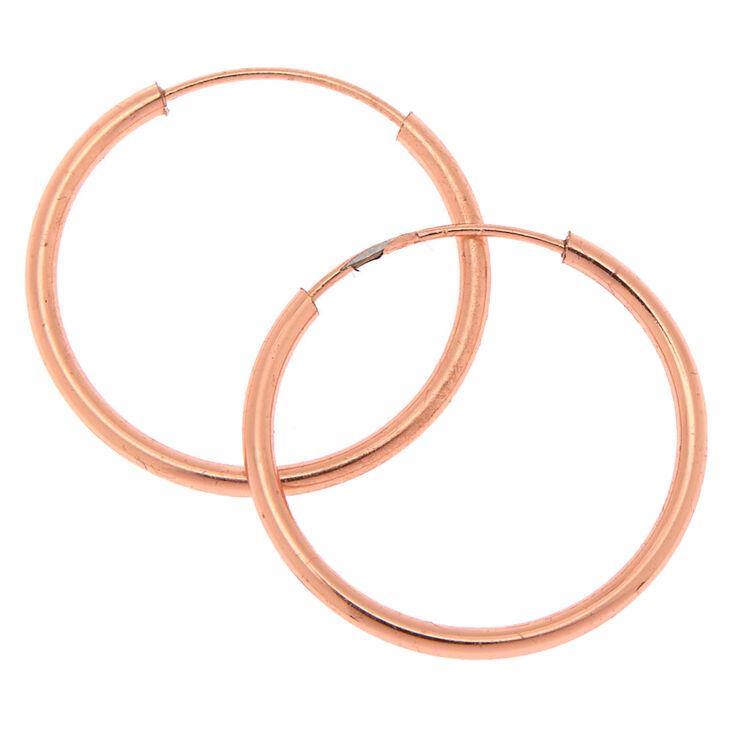 18kt Rose Gold 15MM Infinity Hoop Earrings,
