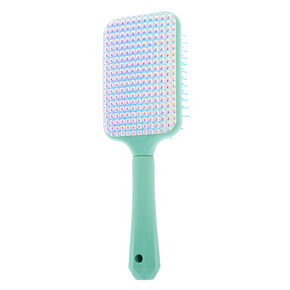 Holo Stud Paddle Hair Brush - Mint,