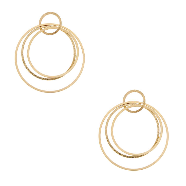 Circle Link Drop Earrings,