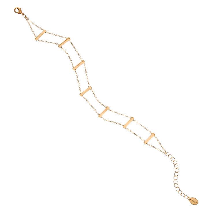Gold Tone Ladder Anklet,