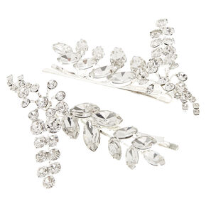 2 Pack Silver Leaf Bobby Pins,