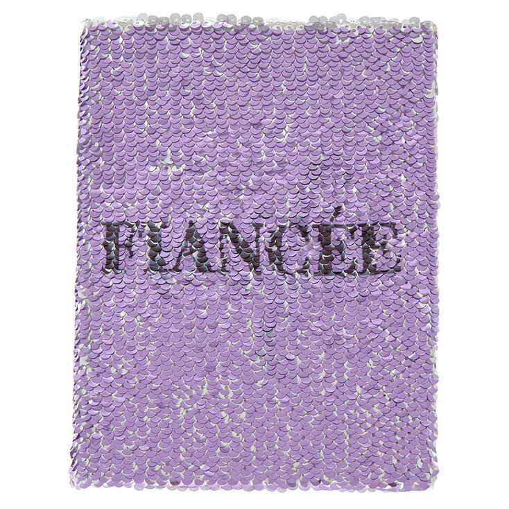 Reversible Sequin Fiancé/Wife Journal - Purple,