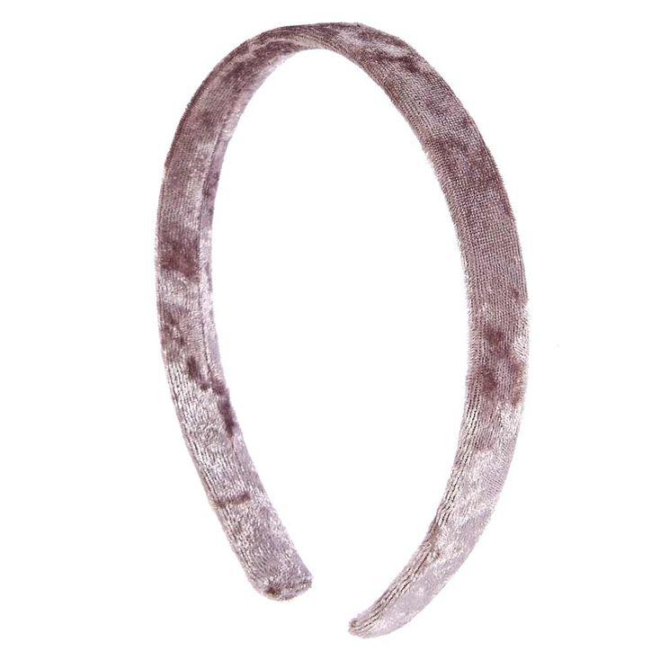 Grey Velvet Headband,