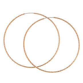 60MM Rose Gold-toned Sandblasted Hoop Earrings,